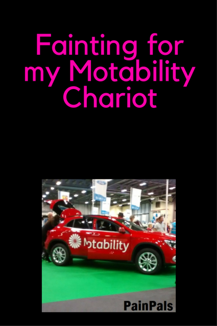 Fainting for my Motability Chariot (2)