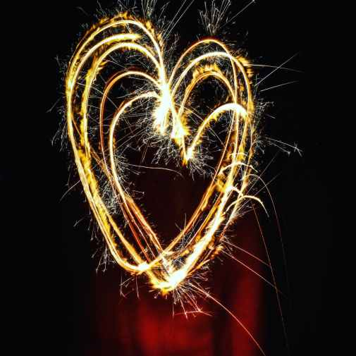 heart shaped fireworks